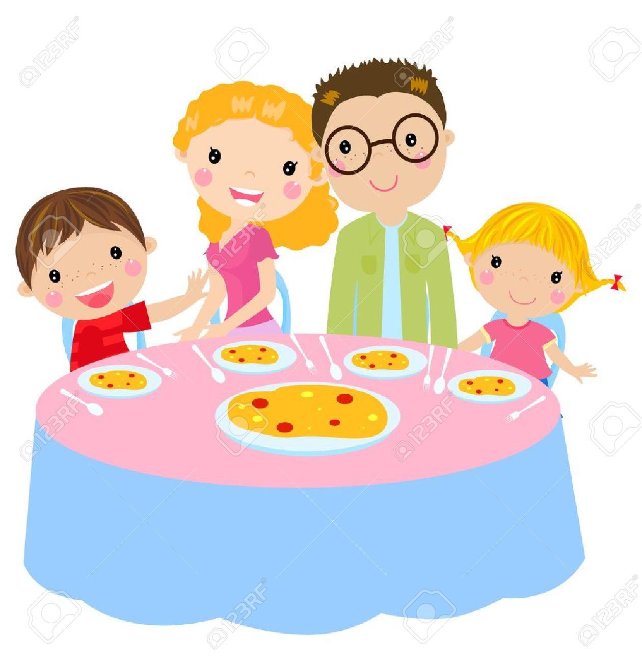 family dinner royalty free cliparts vectors and stock illustration rh 123rf com family dinner clipart free family eating dinner clipart black and white