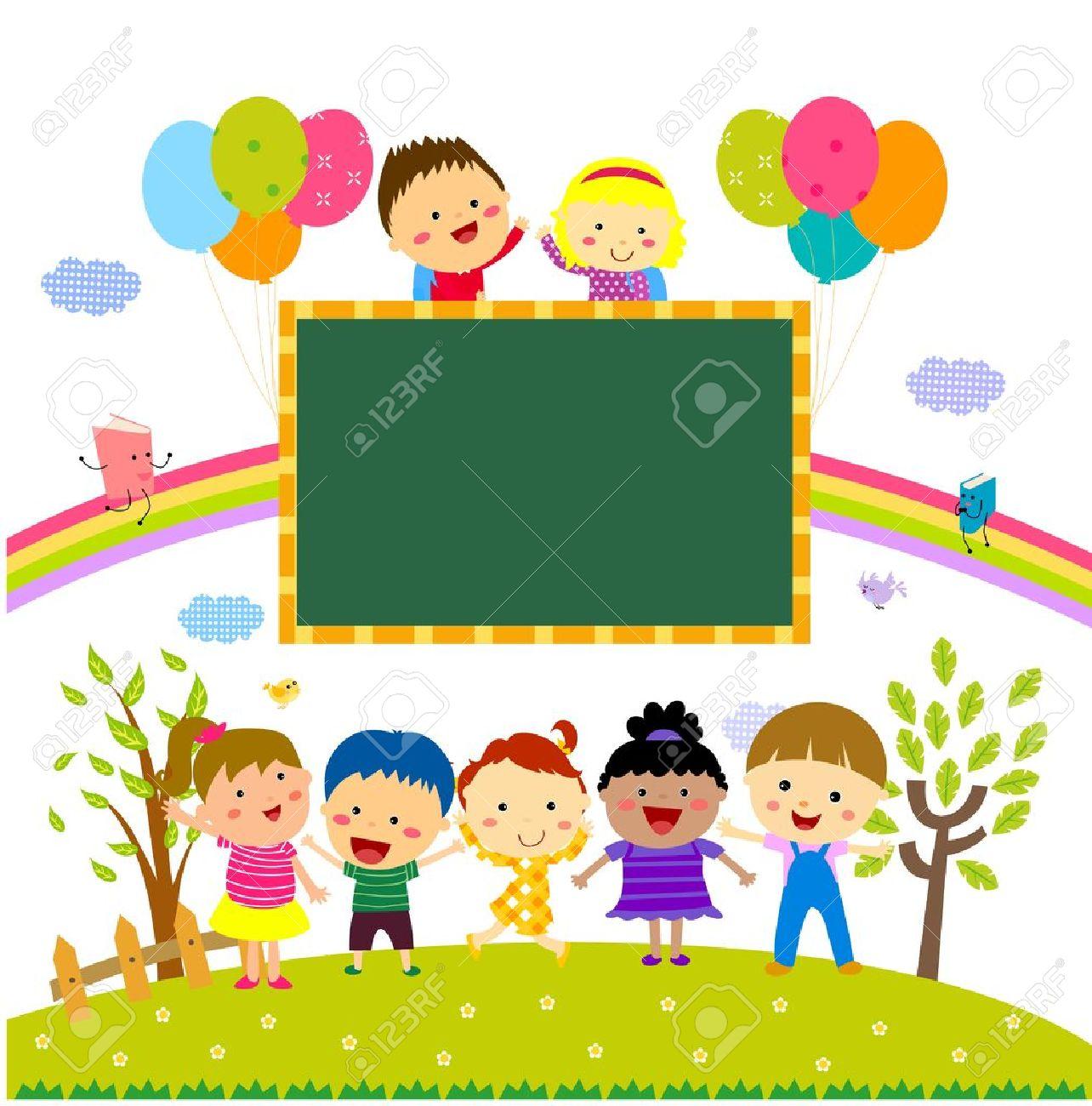 Schulklasse im unterricht clipart  Kinder Und Tafel Lizenzfrei Nutzbare Vektorgrafiken, Clip Arts ...