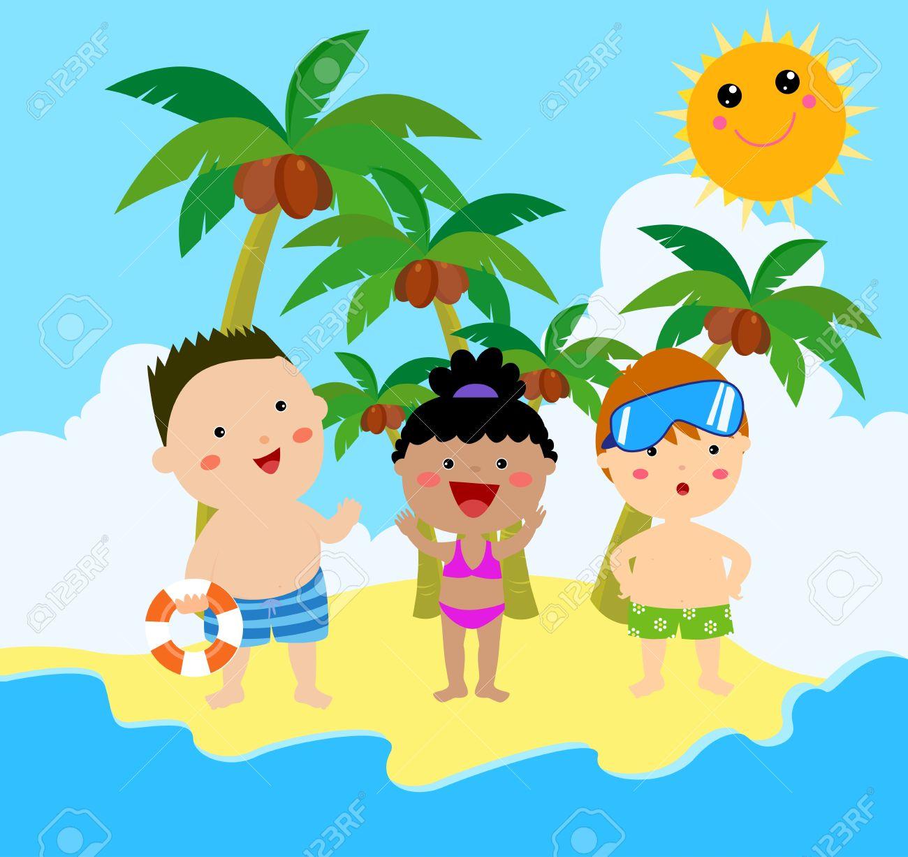 summer kids stock vector 22246608