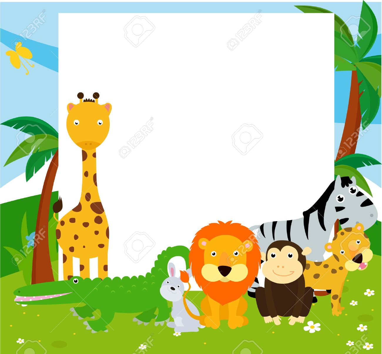 cute cartoon baby jungle animals all pictures top