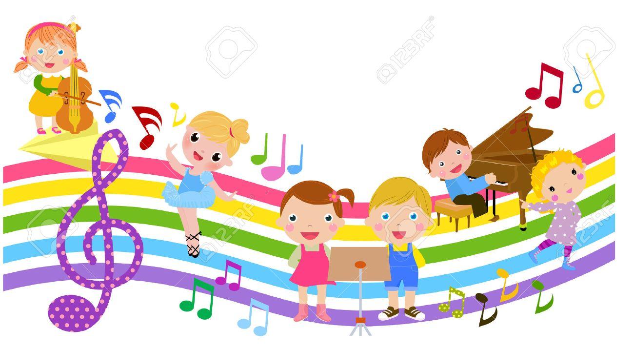 Resultado de imagen de dibujo niños musica