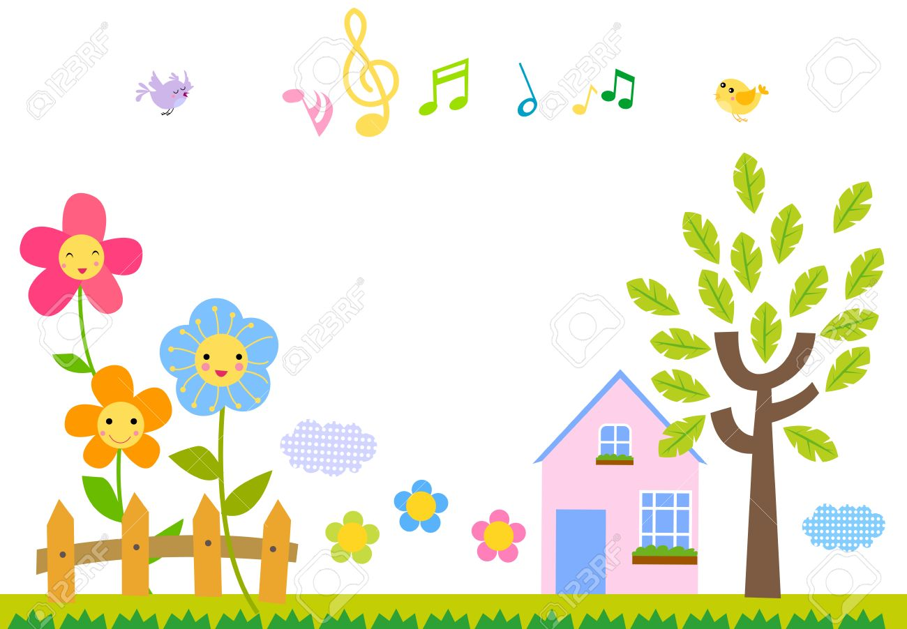 cute nature background royalty free cliparts, vectors, and stock