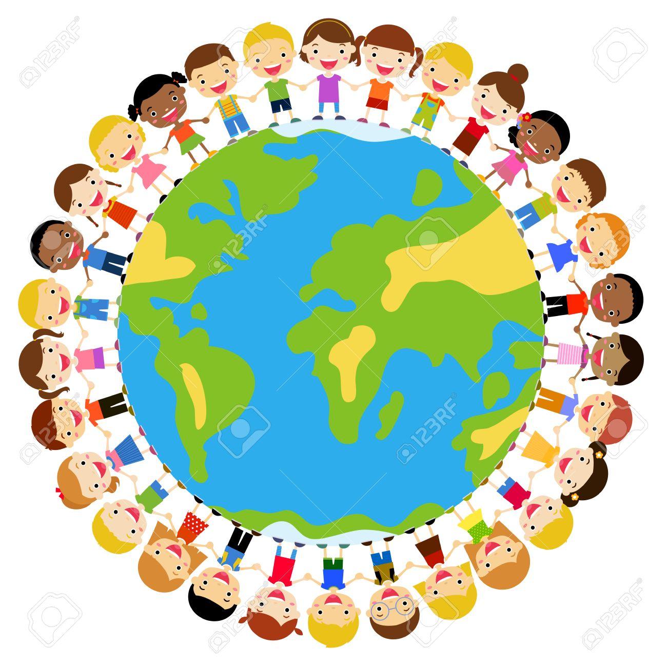 世界中の子供たちのイラスト素材・ベクタ - Image 39096364.