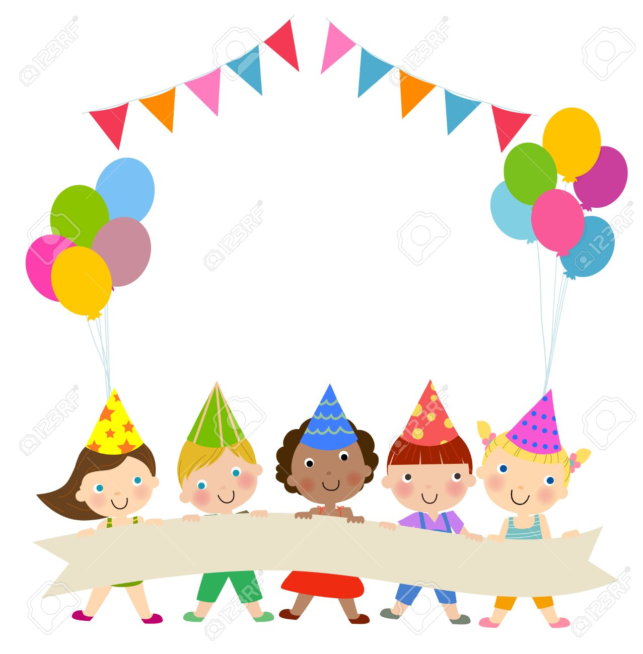 Group Of Children And Birthday Party Royalty Free Cliparts Vectors And Stock Illustration Image 39096511