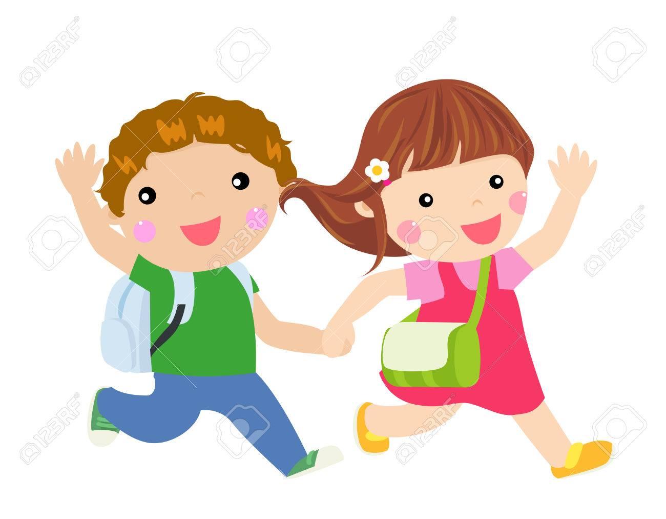 School Kids Running - 42266674