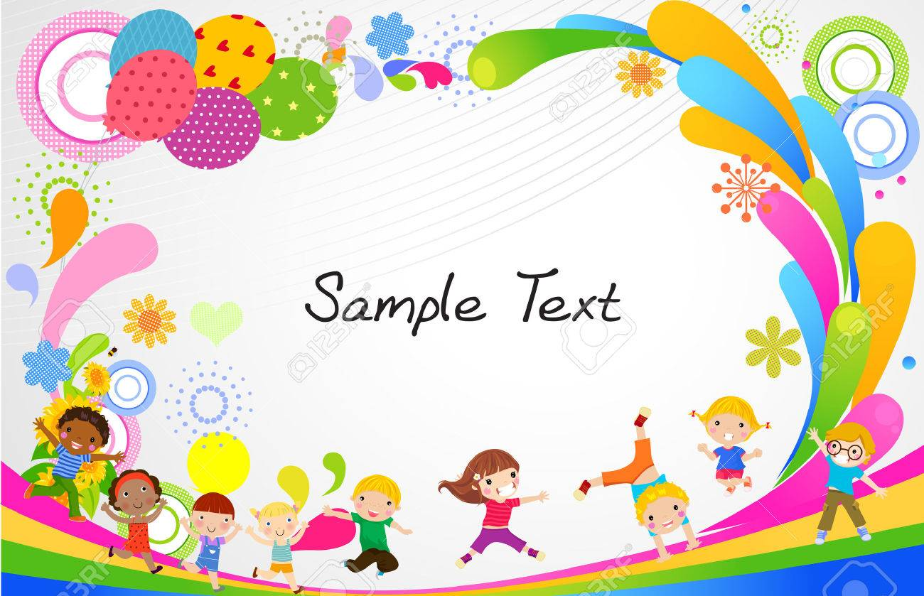 Kids And Frame Royalty Free Cliparts, Vectors, And Stock ...