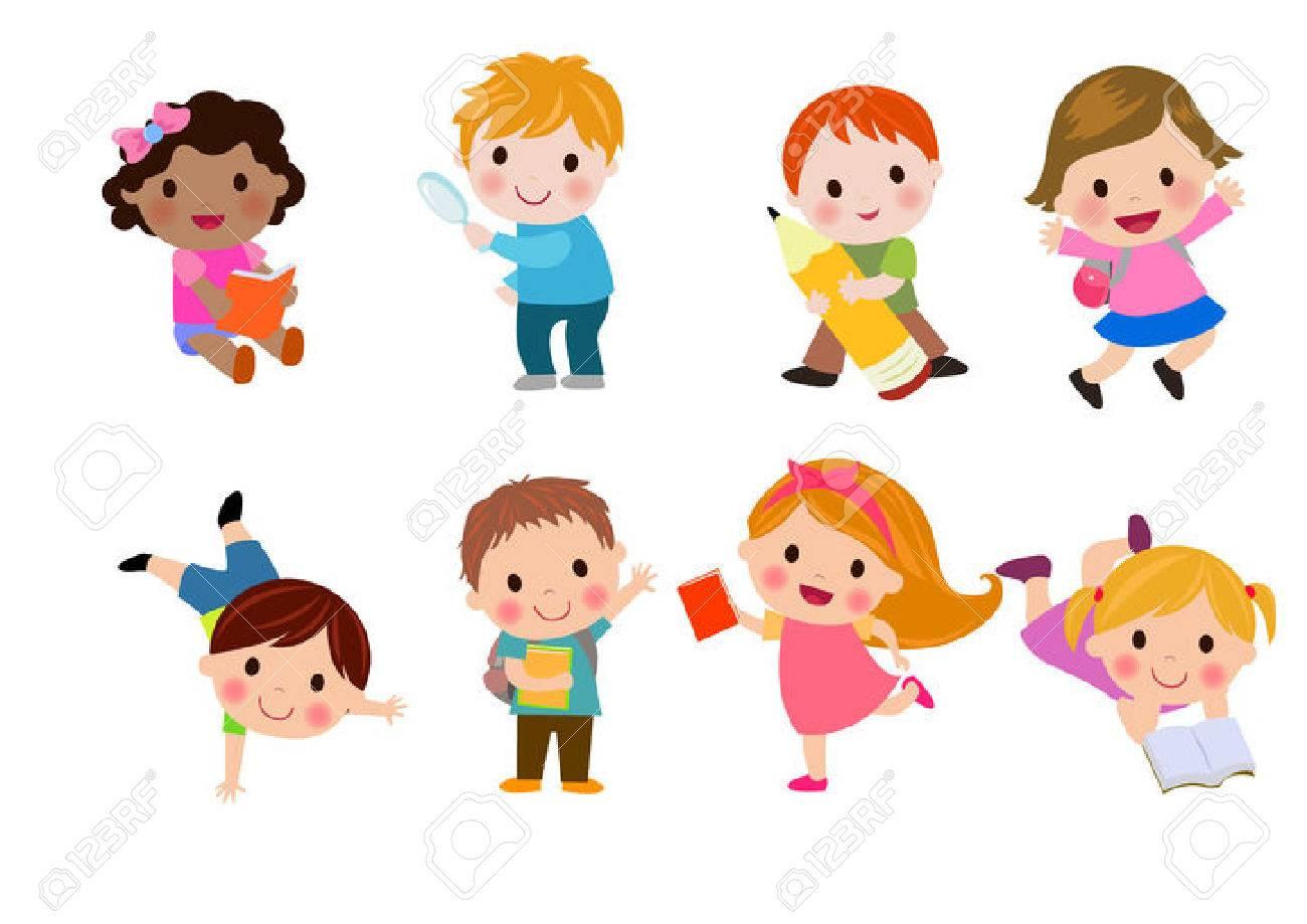Happy children go to school - 50302721