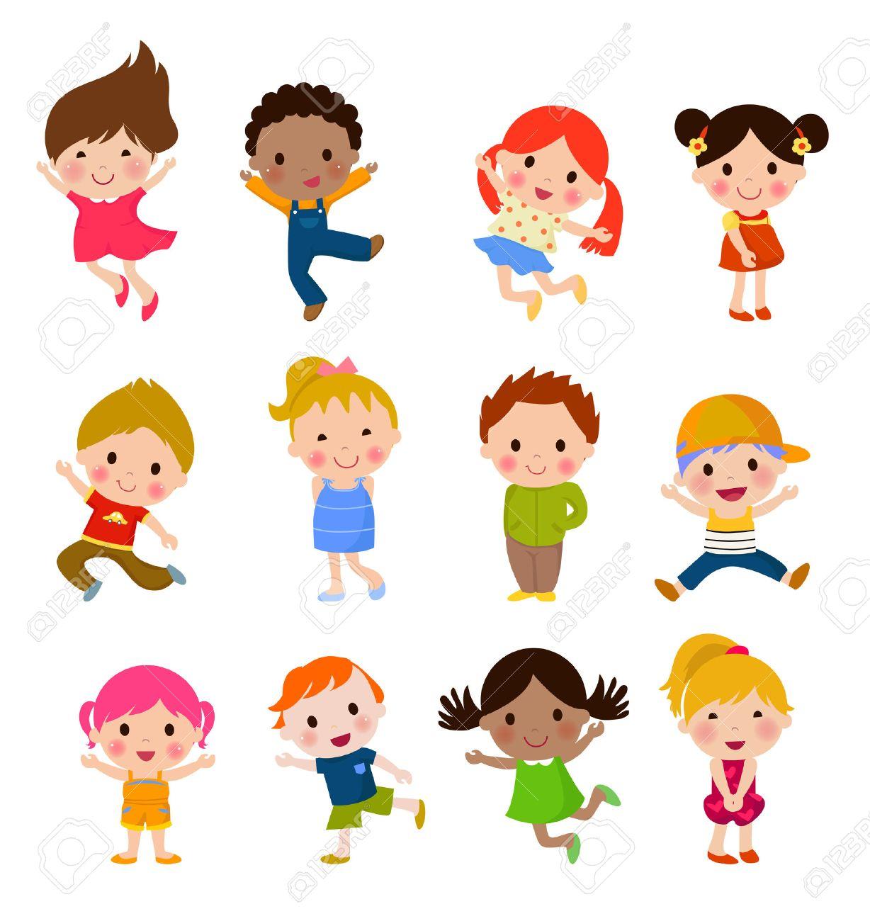 Cute children cartoon collection - 52394053