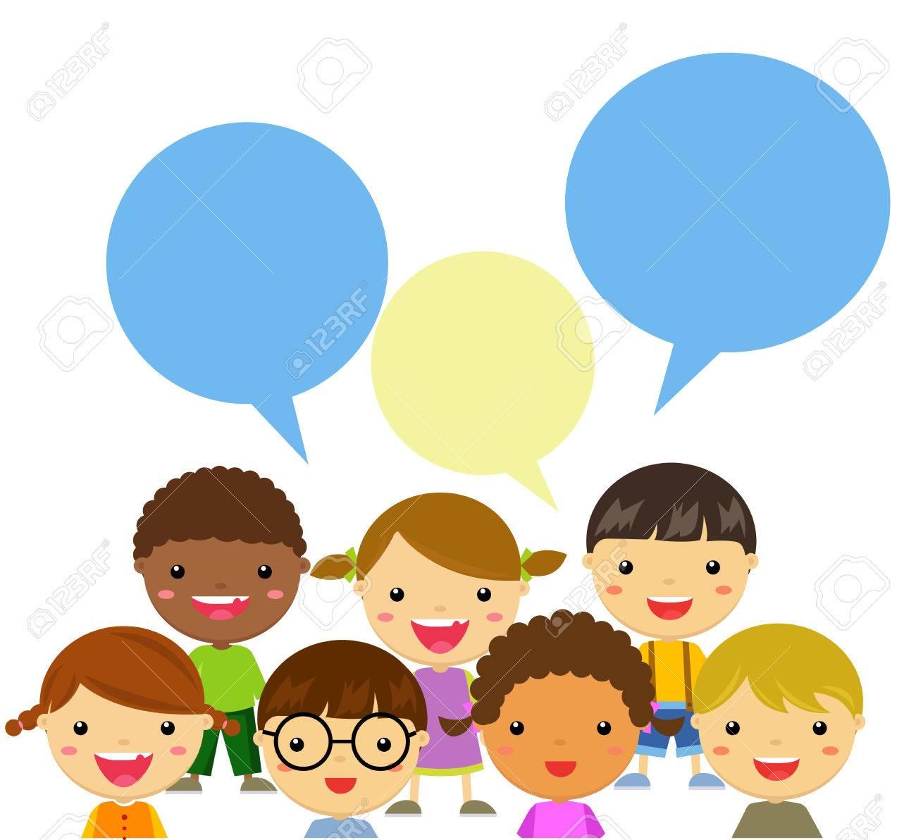 happy kids talking - 61208212