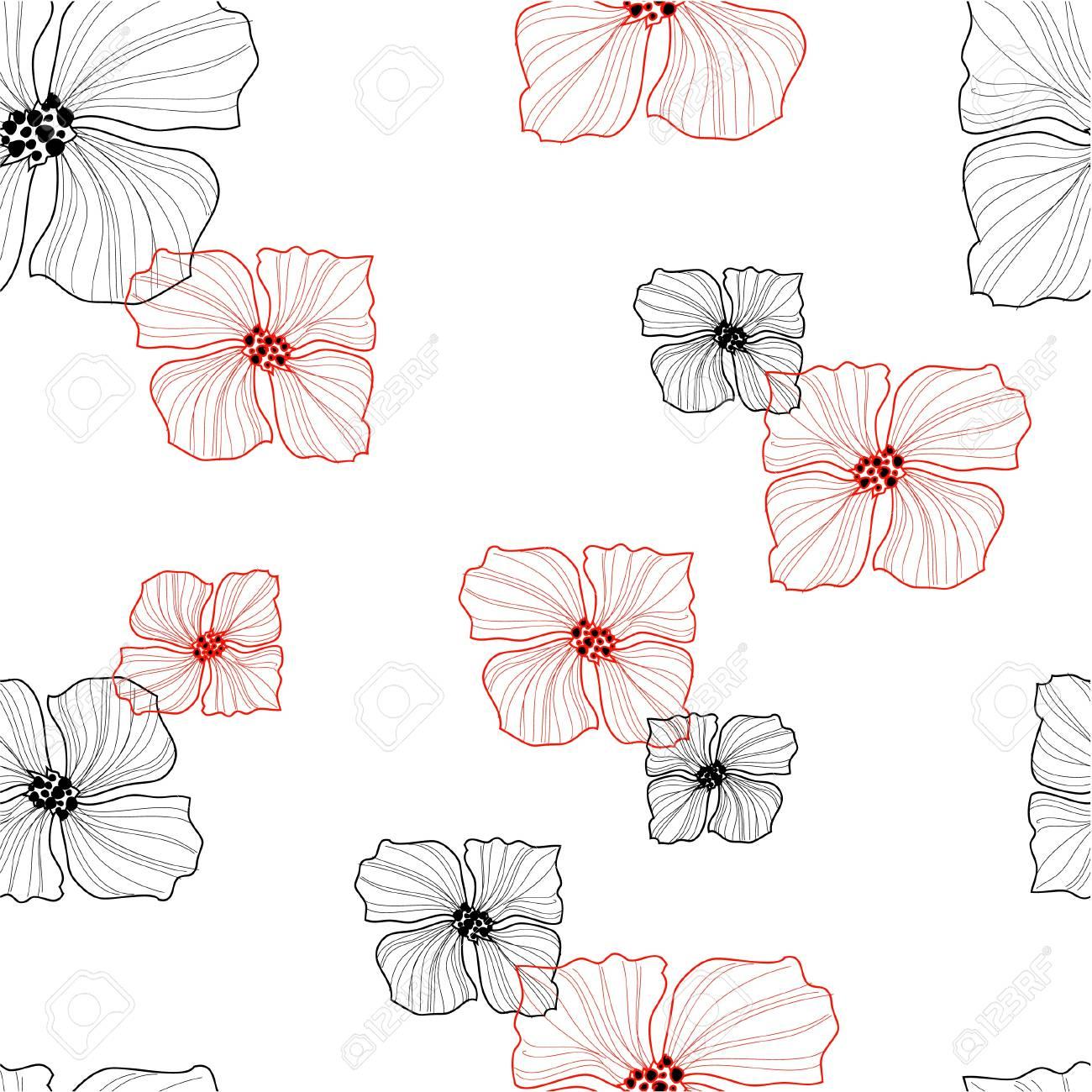Flowers seamless retro pattern Stock Vector - 11658089