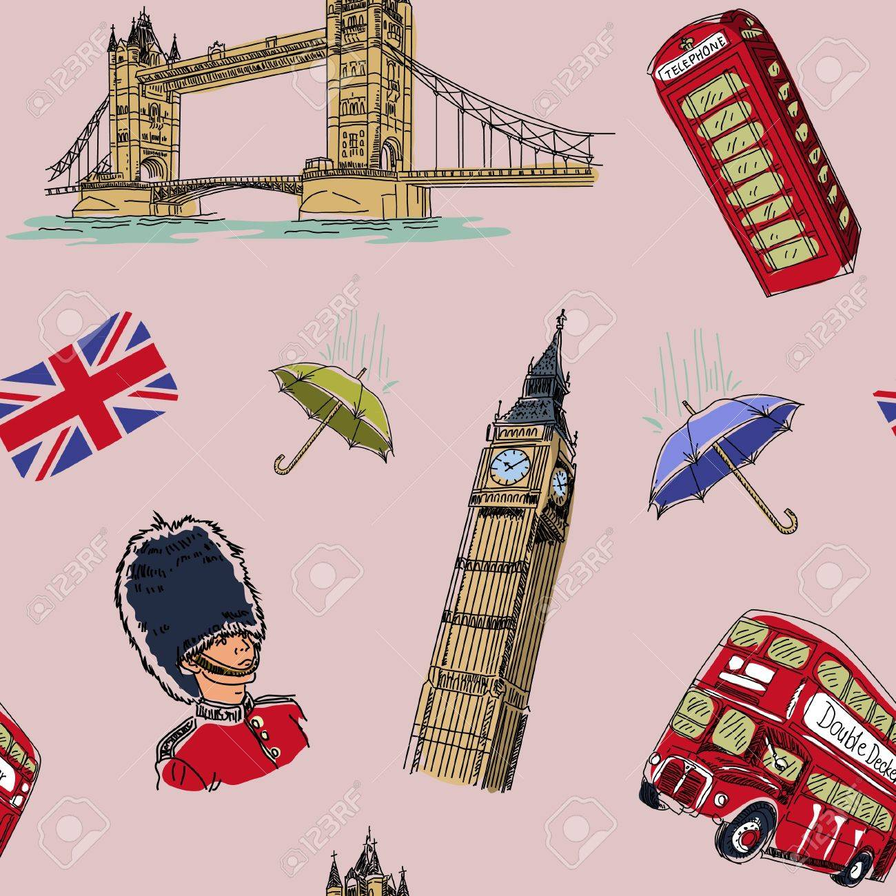 London seamless pattern Stock Vector - 11658096