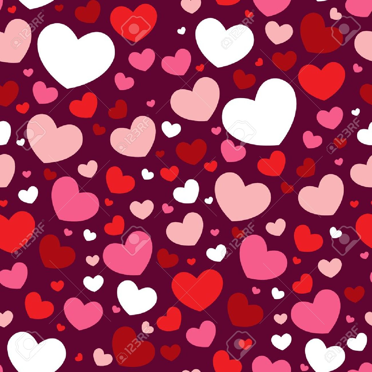 cute valentine love seamless pattern with colorful hearts royalty