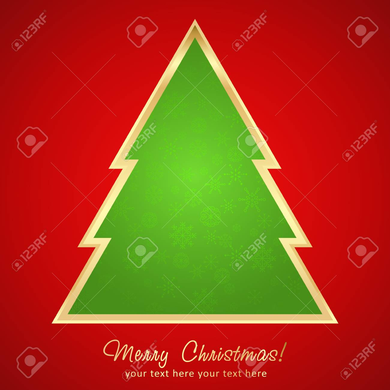 Beautiful Christmas greeting card with cartoon xmas tree Stock Vector - 16771996