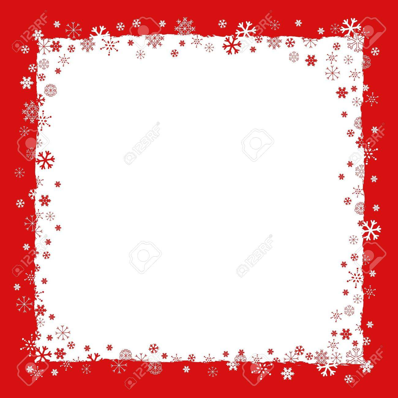 New Year  Christmas  background with snowflakes border and grunge elements Stock Vector - 16858117