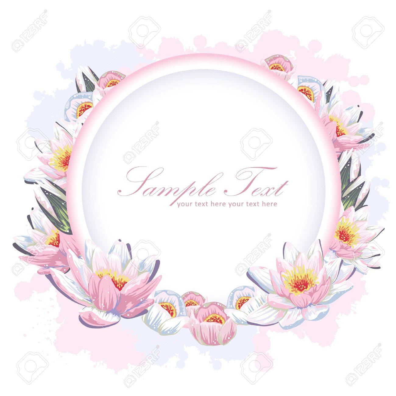 elegant colorful flower invitation postcard royalty free cliparts