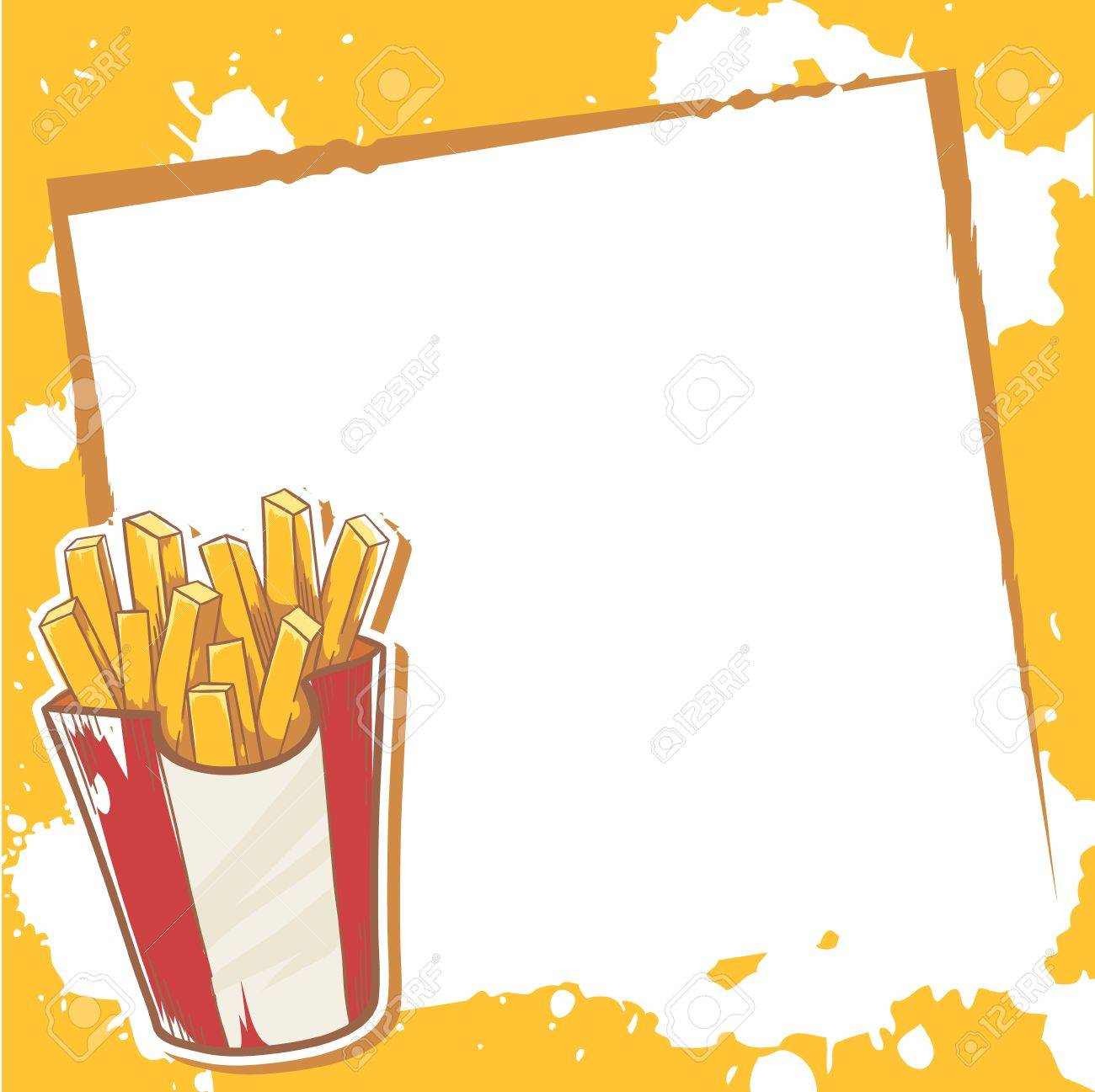Advertisment invitation card with delicious french fries royalty advertisment invitation card with delicious french fries stock vector 20926614 stopboris Images