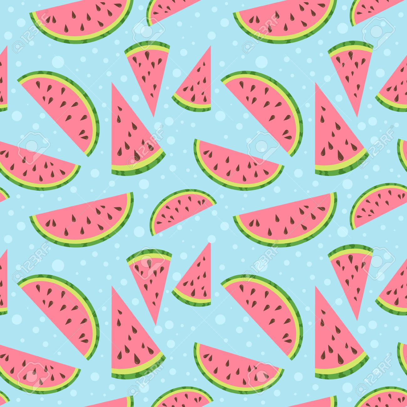 Watermelon vector colorful seamless pattern - 22175921