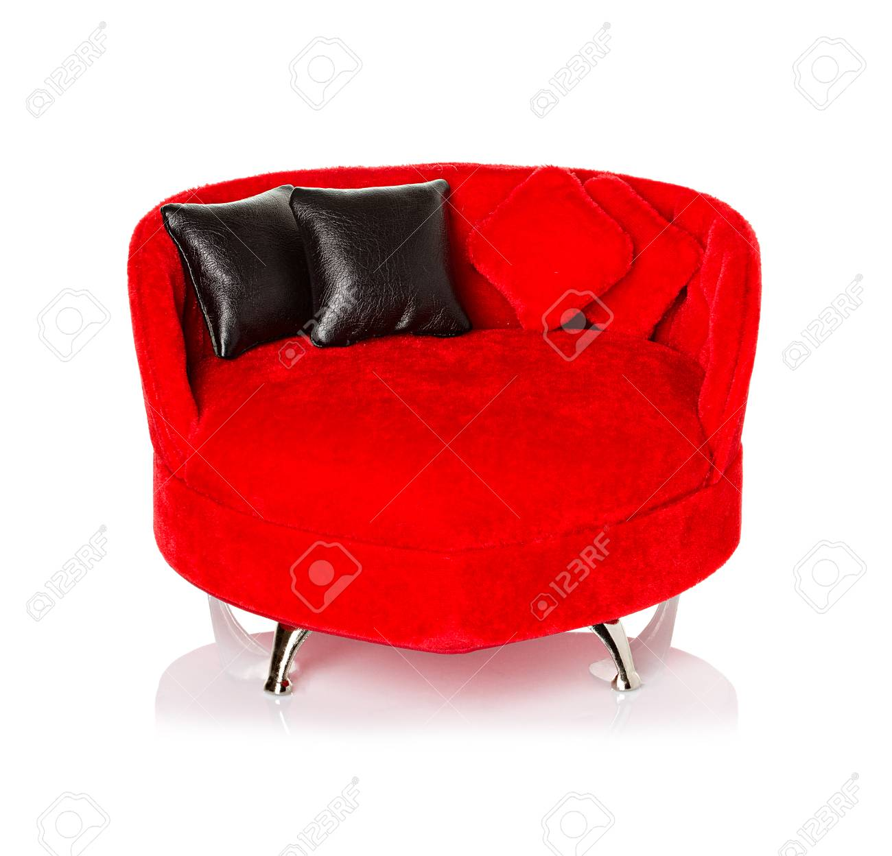 Red sofa, couch Stock Photo - 25254857