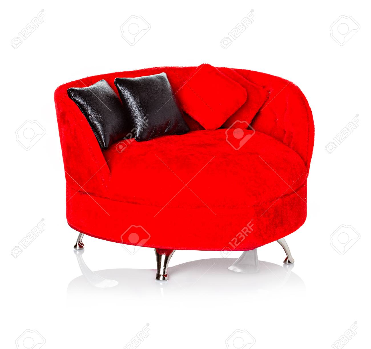 Red sofa, couch Stock Photo - 25257030