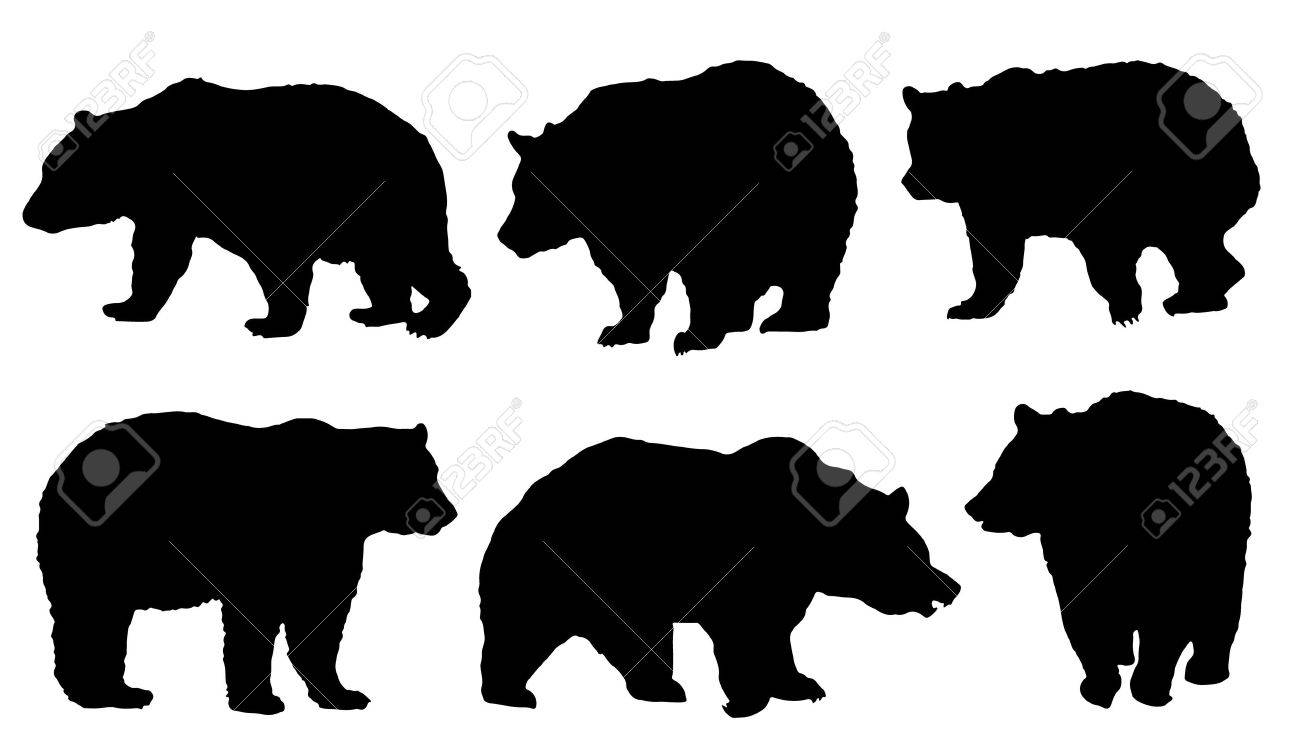 bear silhouette stock photos royalty free bear silhouette images  - bear silhouette bear silhouettes on the white background illustration