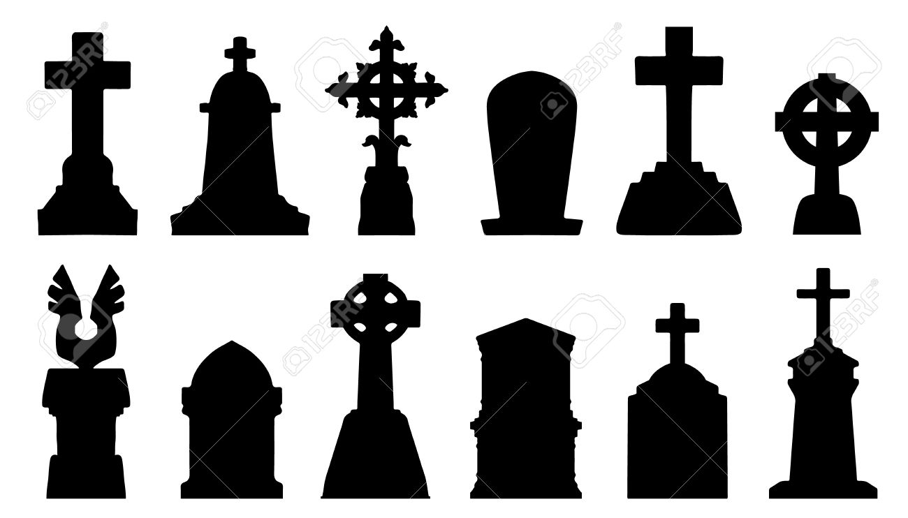 tombstone silhouettes on the white background royalty free cliparts rh 123rf com tombstone shape vector tombstone vector images
