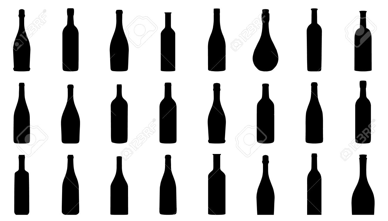 wine bottle silhouettes on the white background royalty free rh 123rf com wine bottle vector free download wine bottle vector sketch