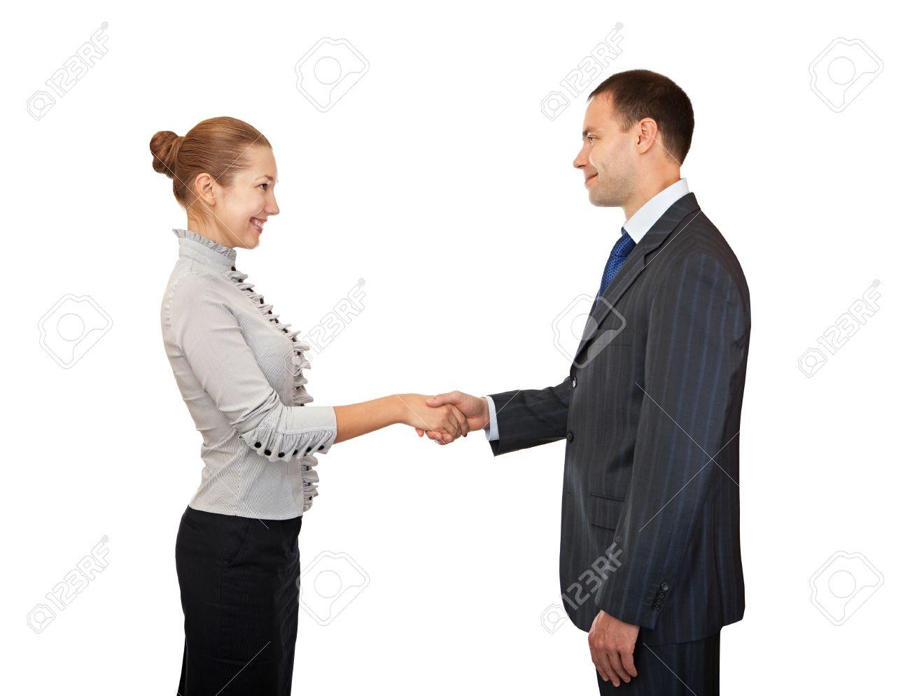 Business people handshake greeting deal at work photo free download - Handshake Man And Women Greeting Business People Stock Photo 35115616