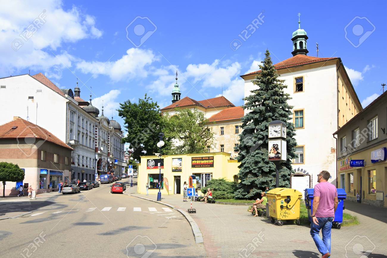 benesov czech republic july 1 2013 architecture on the streets