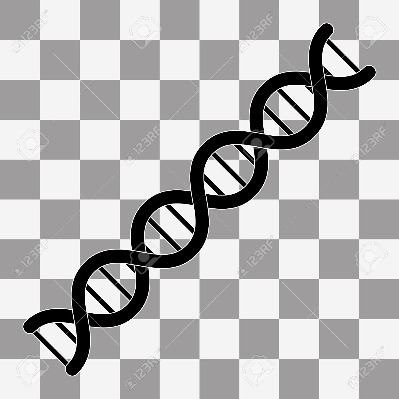 vector the dna icon. dna symbol. flat vector illustration on