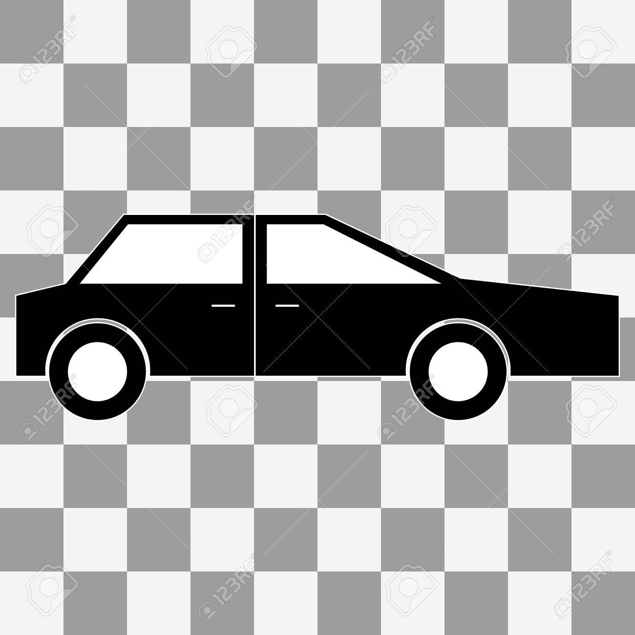 Vector Car Icon Sign On A Transparent Background Royalty Free