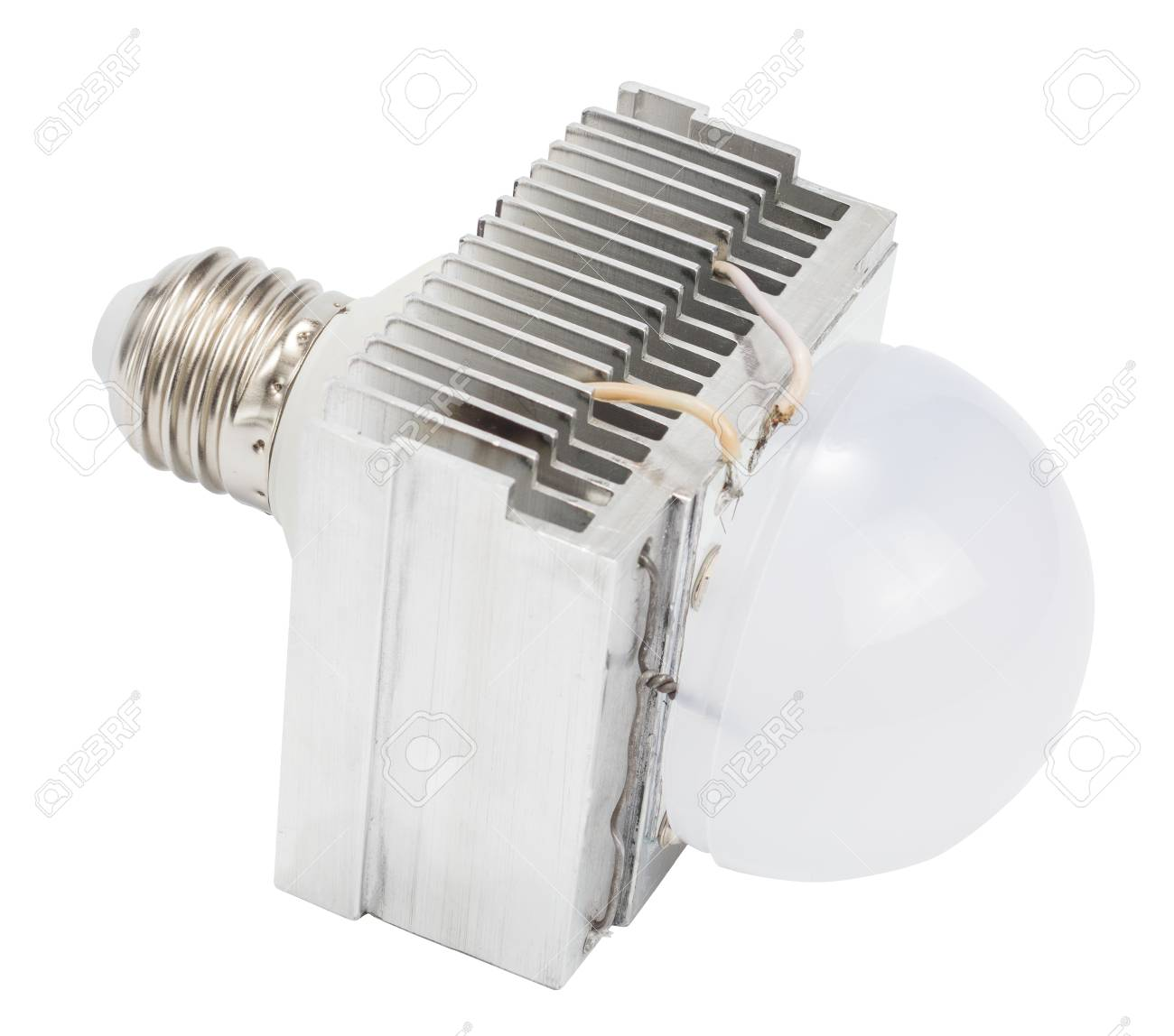 Diy led lamp with huge heatsink on it  Ugly and messy fast handmade