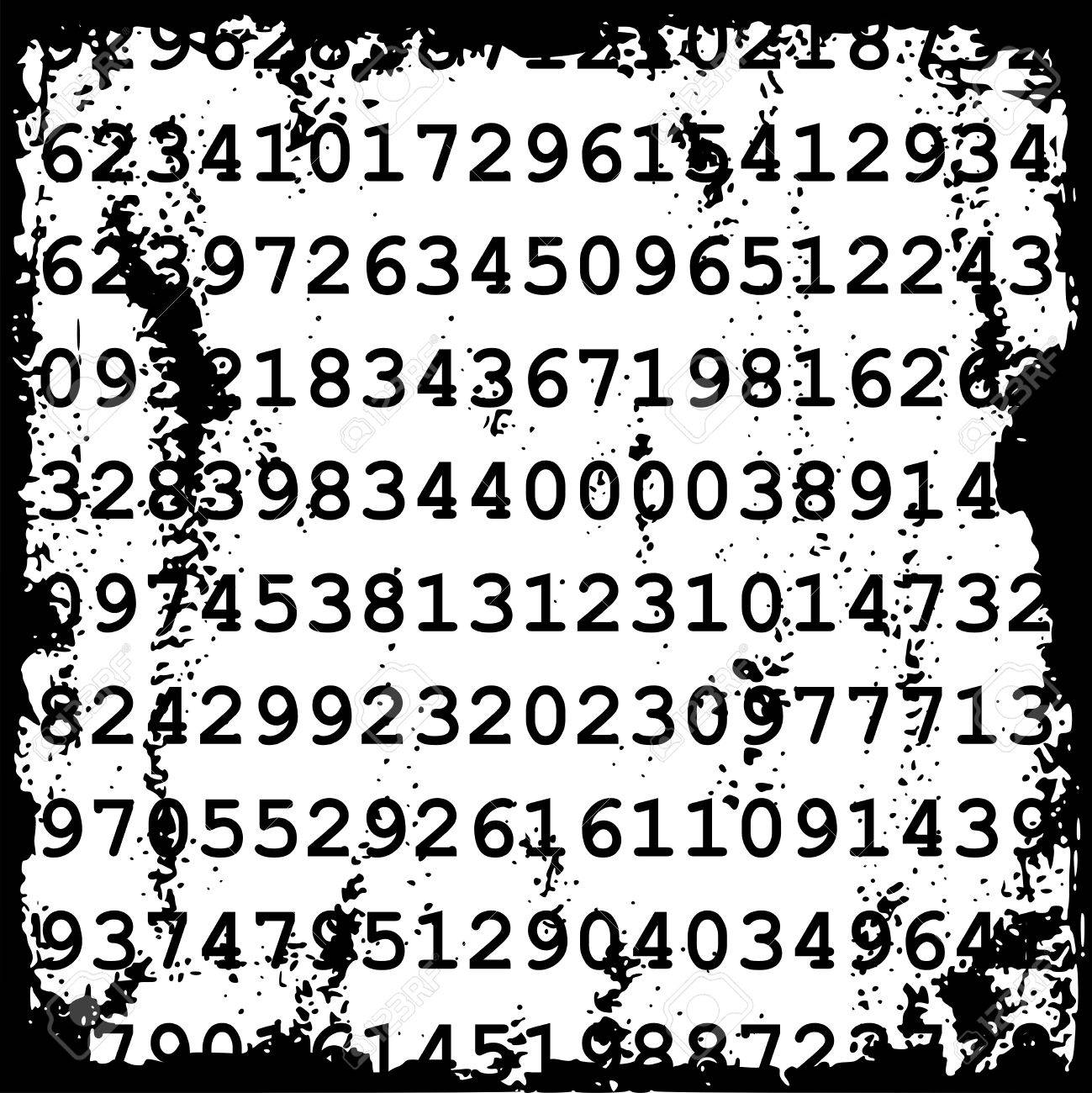 Jumbled Numbers Jumbled Numbers Grunge