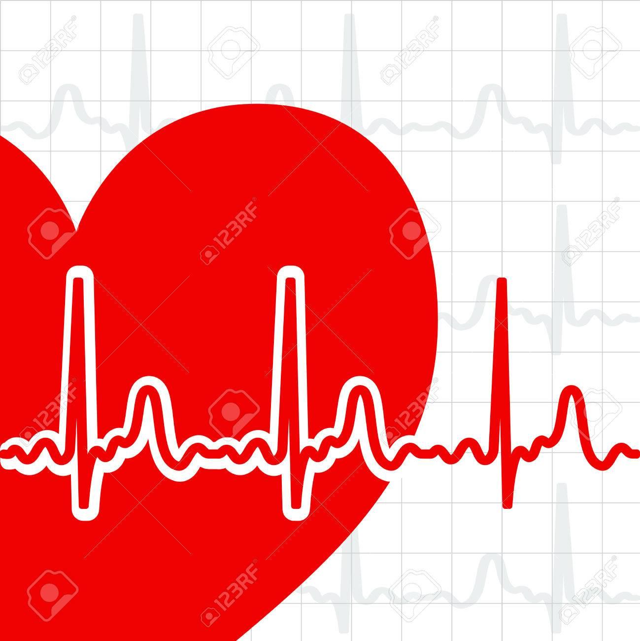 Heart cardiogram Stock Vector - 8102797