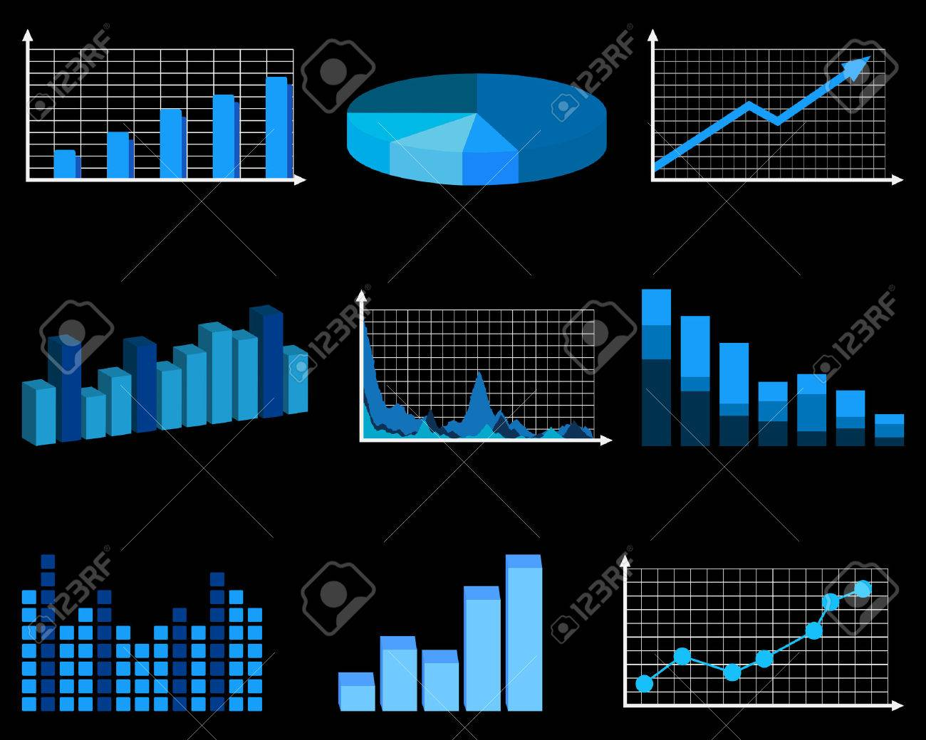 Business charts Stock Vector - 8251398