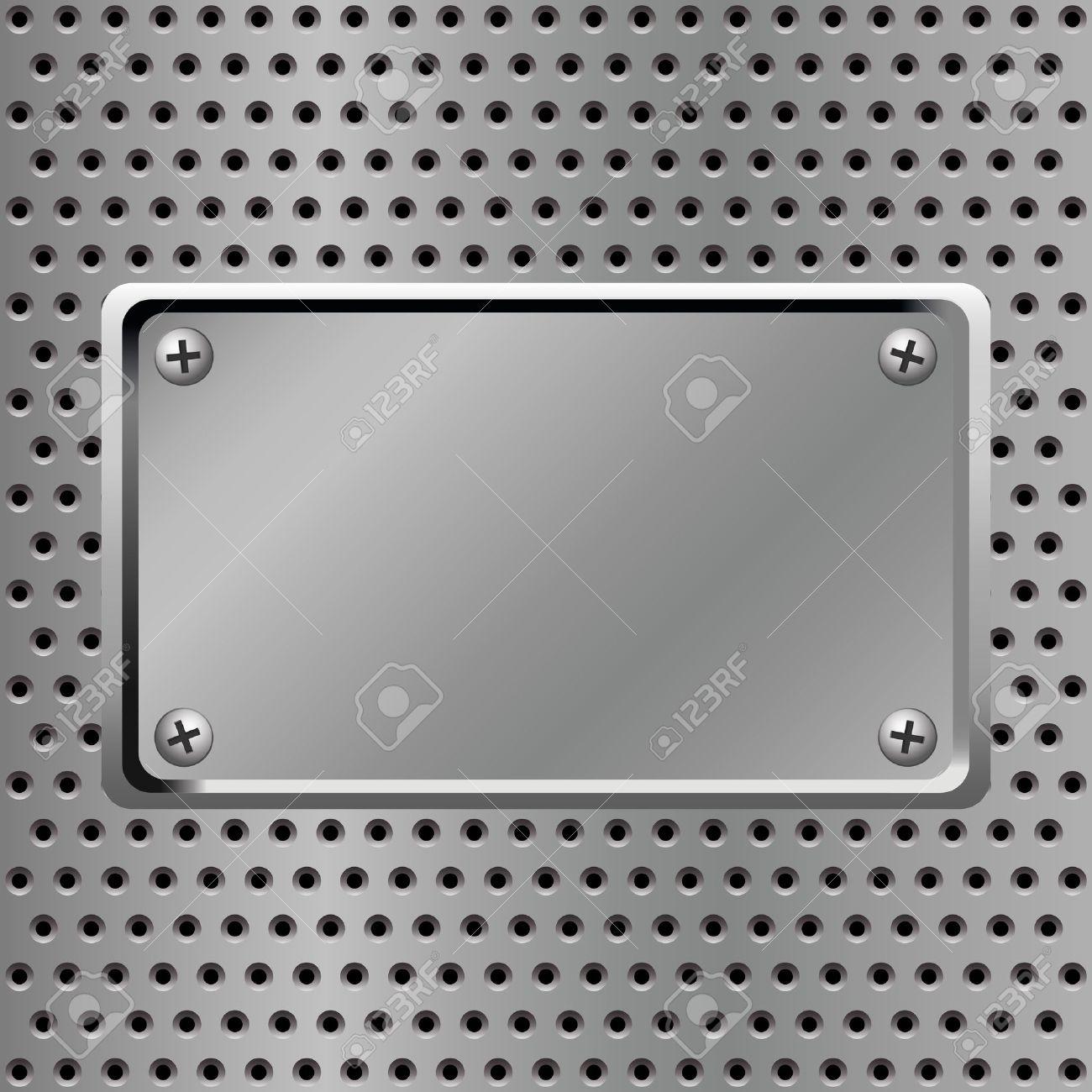 metal plate steel background Stock Vector - 9606897