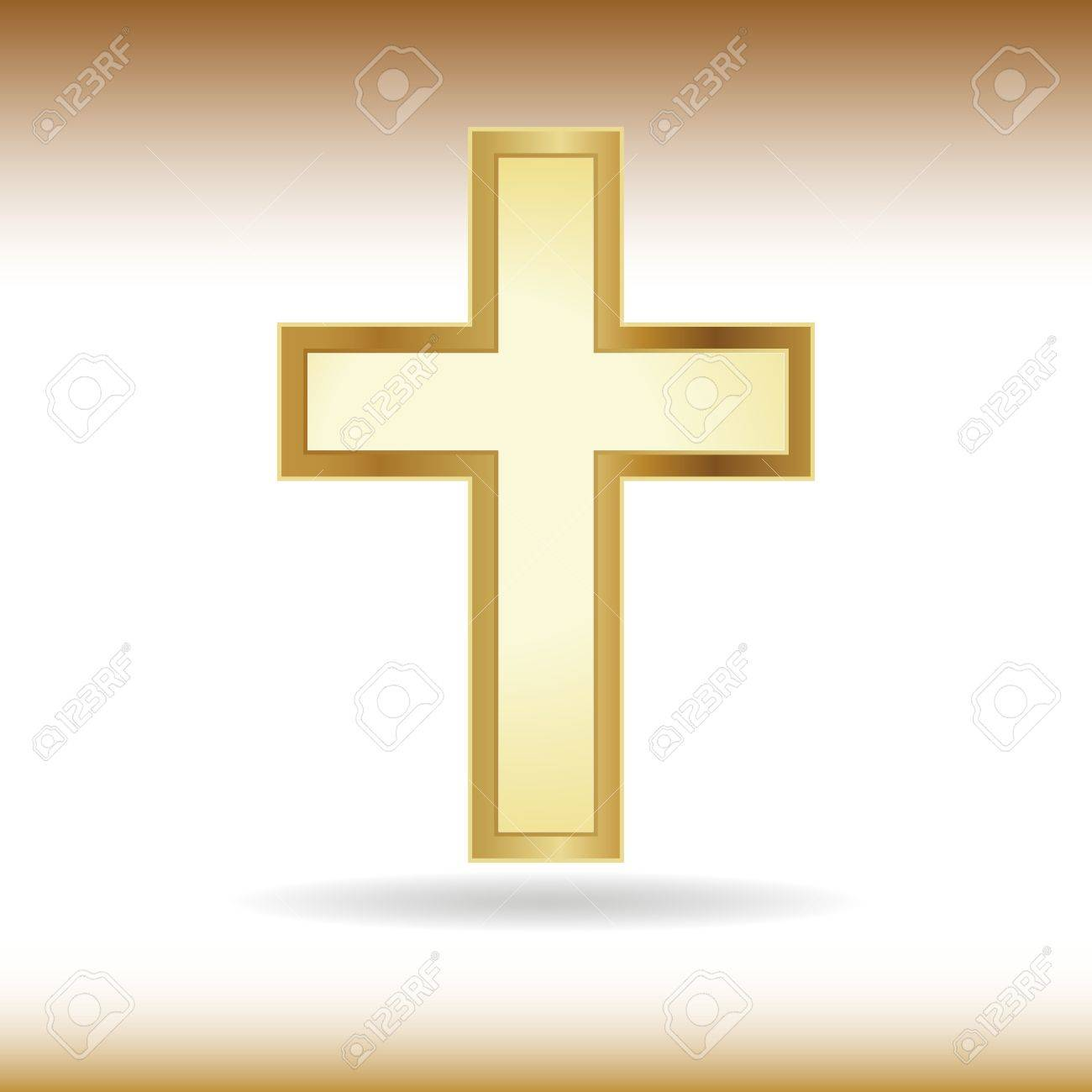 Golden Cross Symbol Of The Christian Faith Royalty Fri Clipart