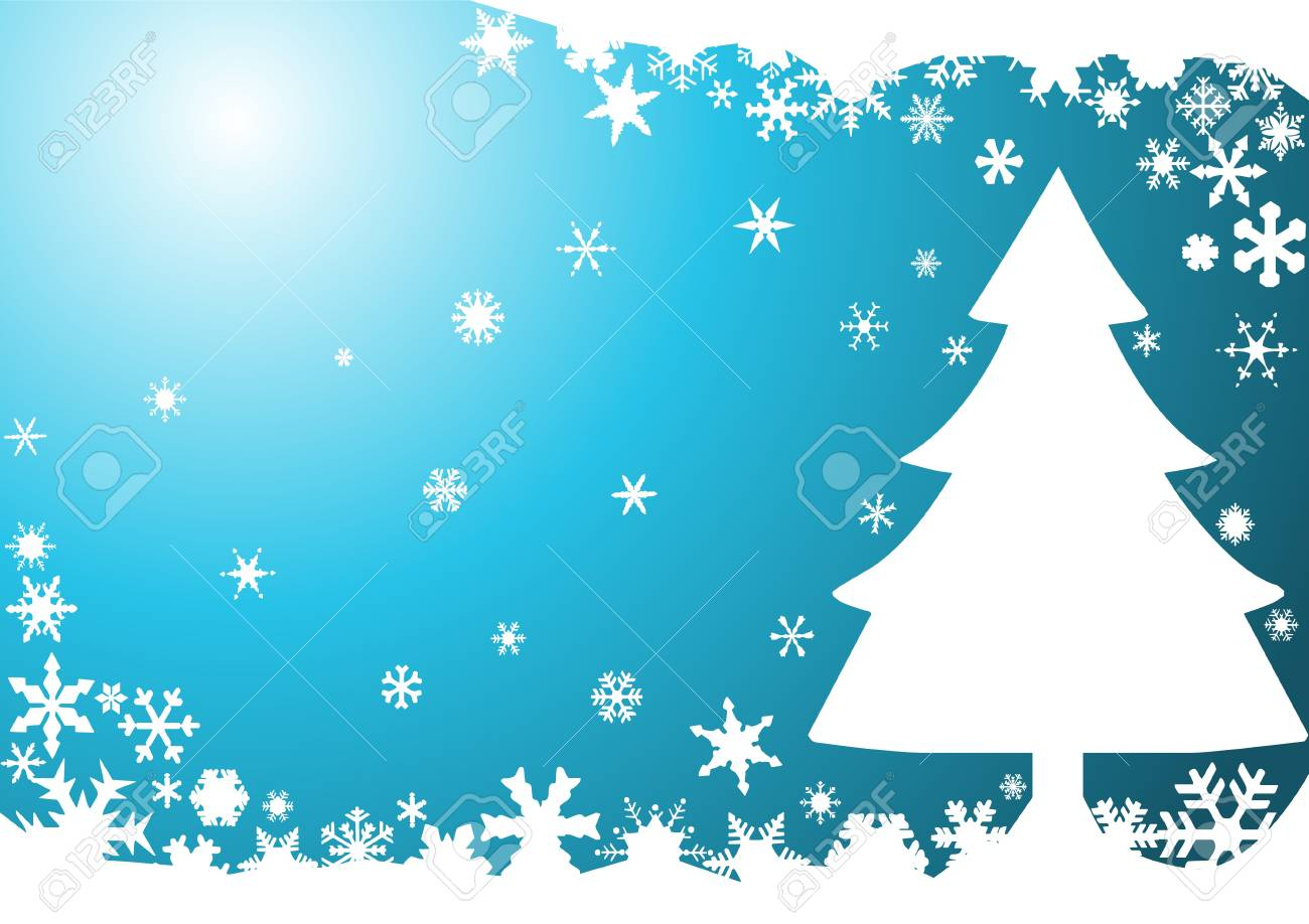 Christmas background with tree Stock Vector - 8973927