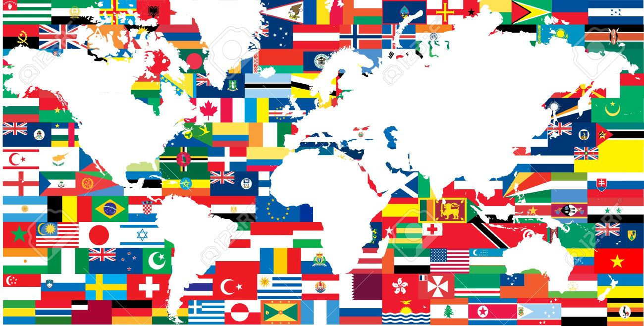National flags and world map royalty free cliparts vectors and national flags and world map stock vector 8972678 gumiabroncs Image collections