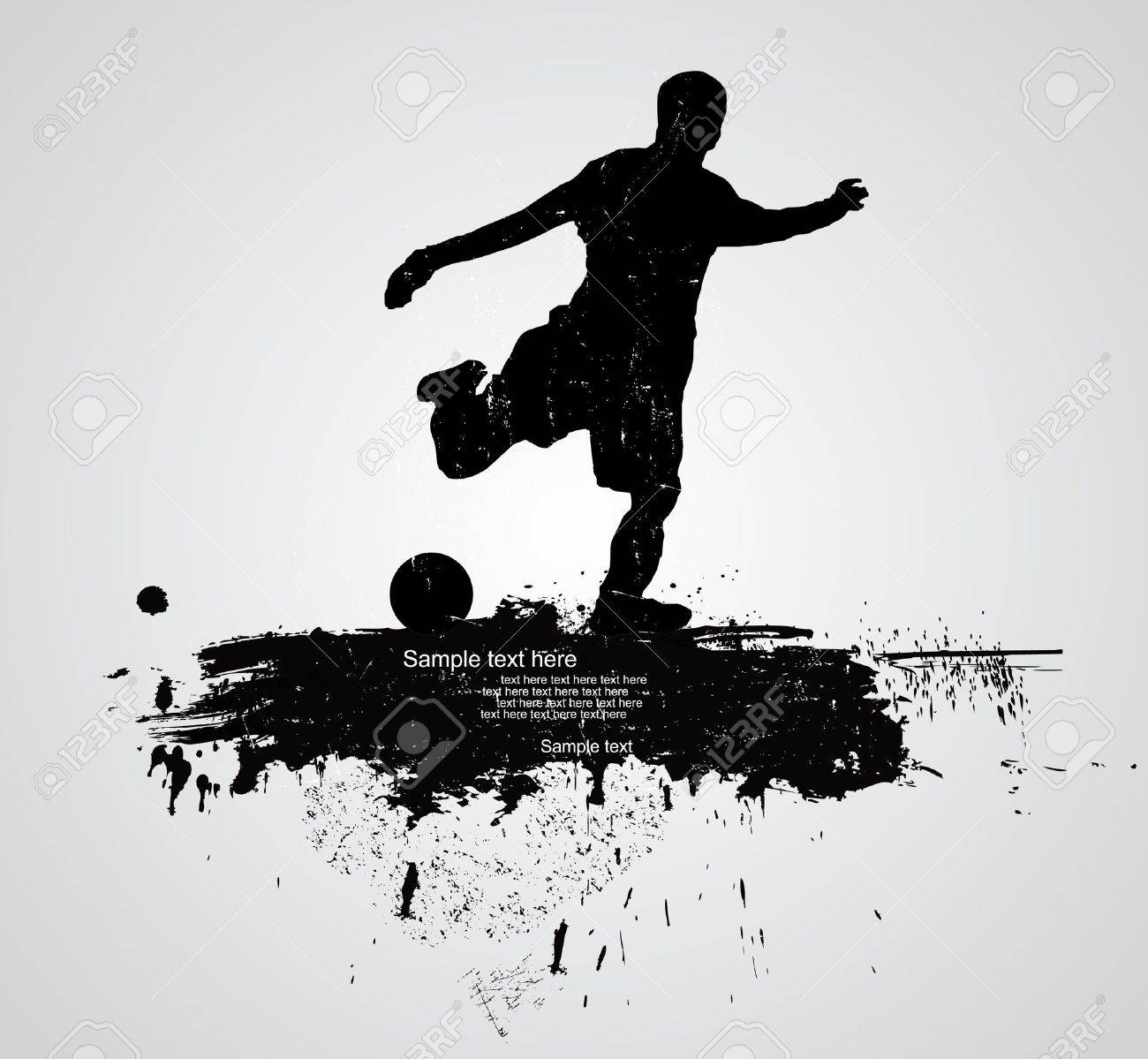 soccer player vector Stock Vector - 11551276