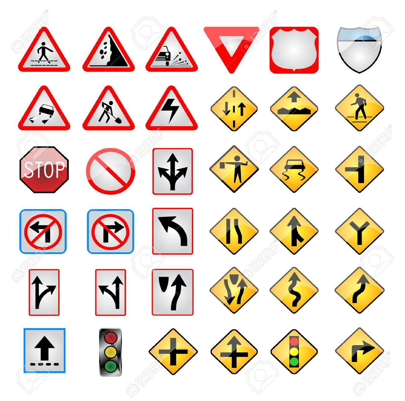 Trafic signs Stock Vector - 20659793