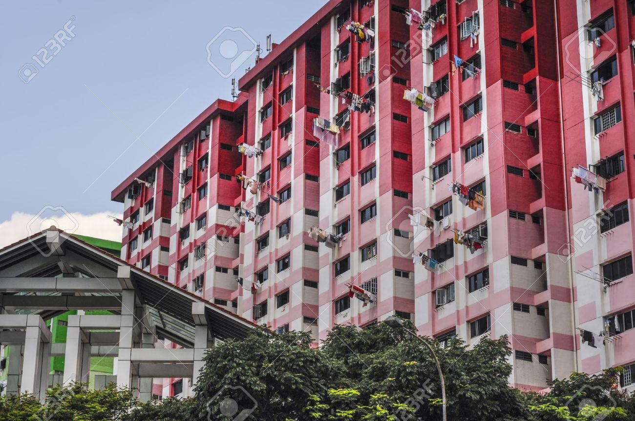 bloques de en singapur que muestran gran altura los edificios de concreto con un lavado