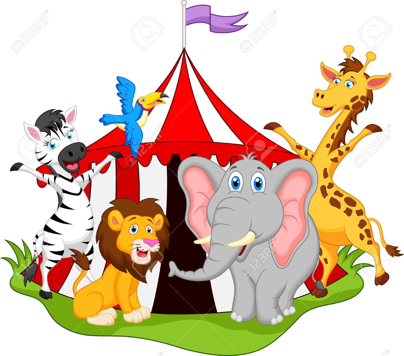 12 837 circus animals stock vector illustration and royalty free