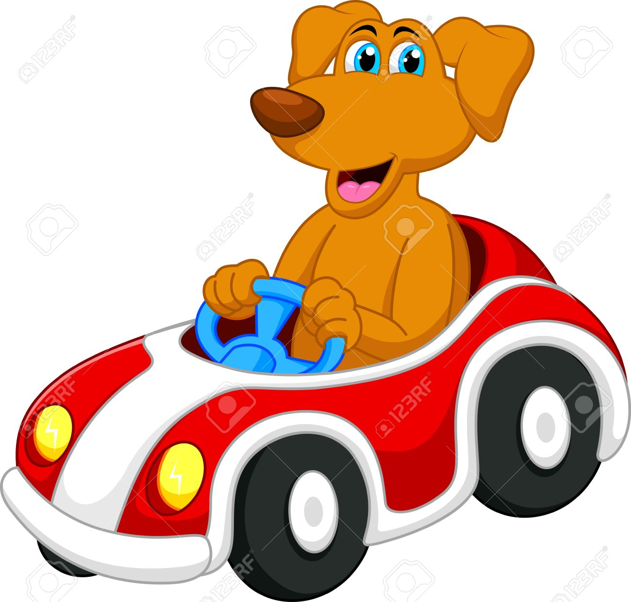 Image result for CARTOON DOG DRIVING CAR CLIPART