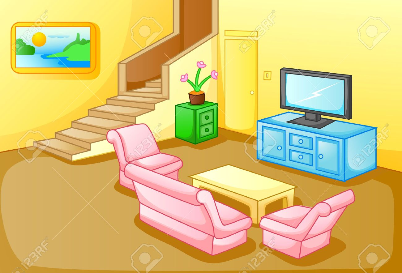 living room furniture clipart. interior of a house living room stock vector - 31395543 furniture clipart