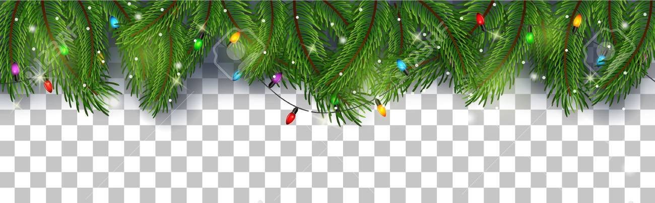 Vector illustration of Christmas card background with fir branches and pine cones - 90150798