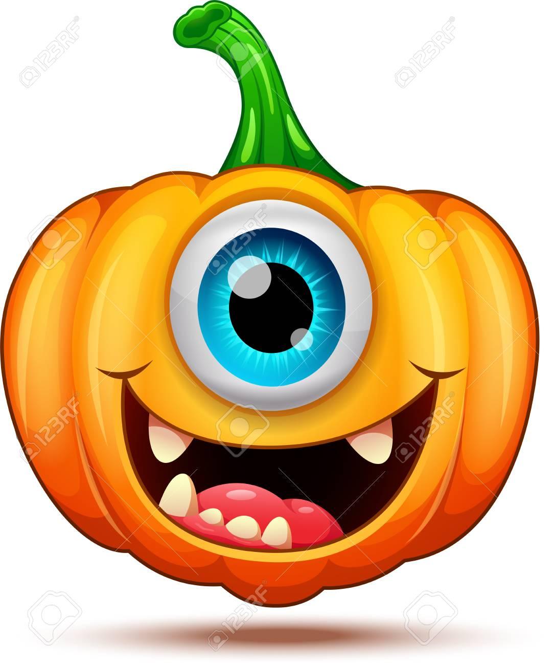 Funny pumpkin characters - 109767042