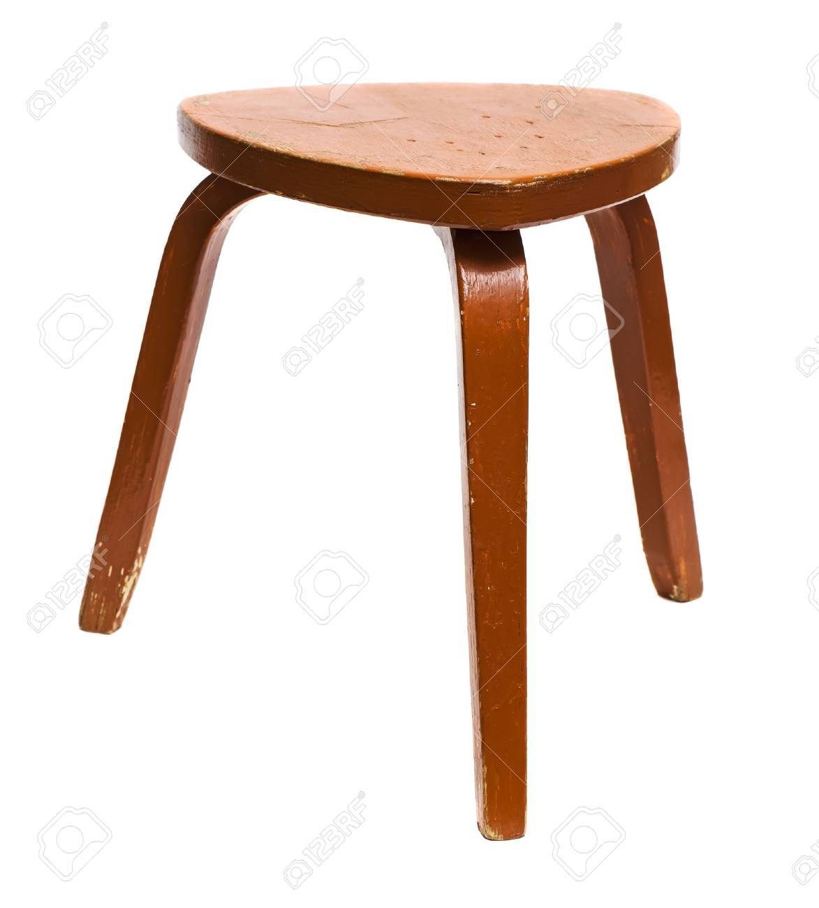 Old wooden stool isolated on white background Stock Photo - 23449725  sc 1 st  123RF Stock Photos & Old Wooden Stool Isolated On White Background Stock Photo Picture ... islam-shia.org