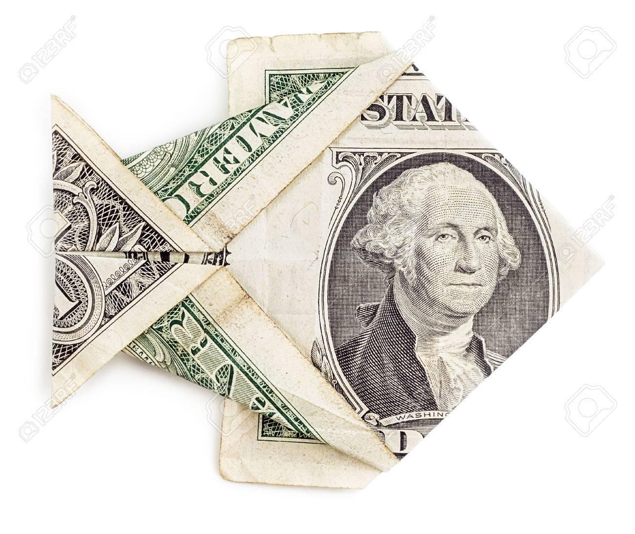 Dollar origami fish isolated on white background moneygami dollar origami fish isolated on white background moneygami catch stock photo 48358015 jeuxipadfo Choice Image