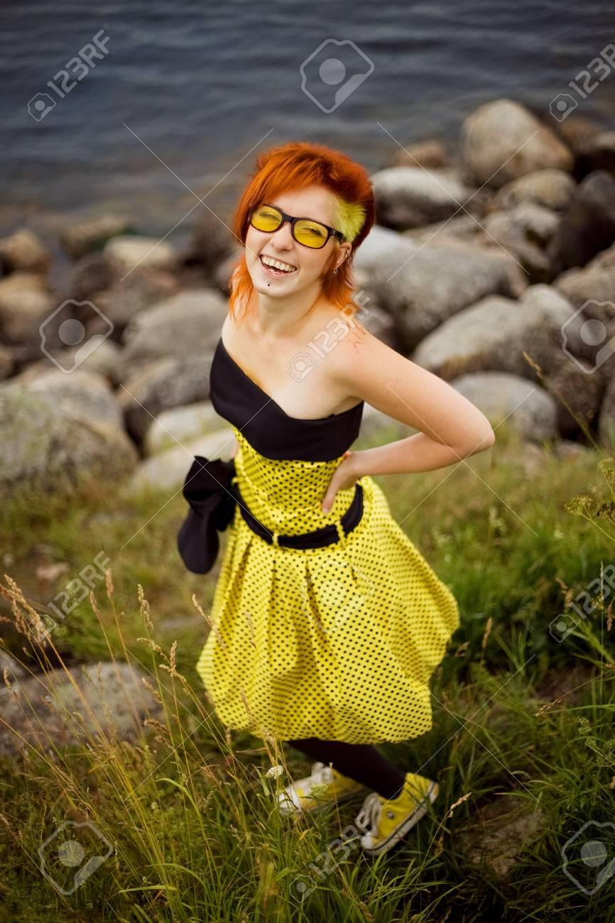 unusual girl Stock Photo - 18205855