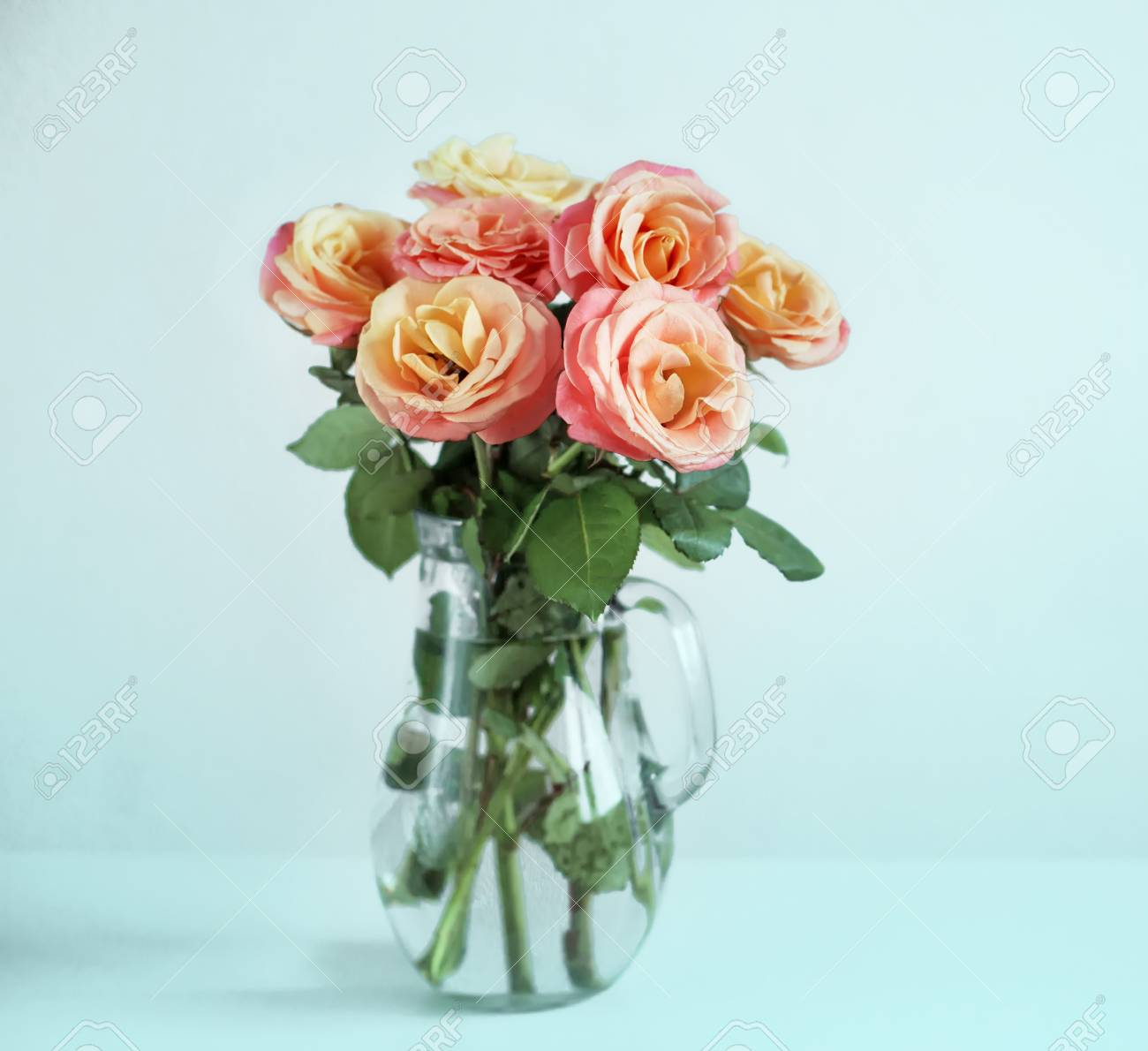 Pink Flowers In A Vase Stock Photo Picture And Royalty Free Image